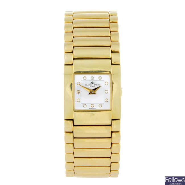 BAUME & MERCIER - a lady's 18ct yellow gold Catwalk bracelet watch.