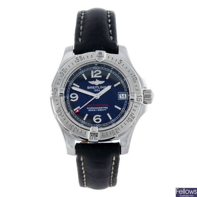 BREITLING - a lady's stainless steel Colt Oceane wrist watch.