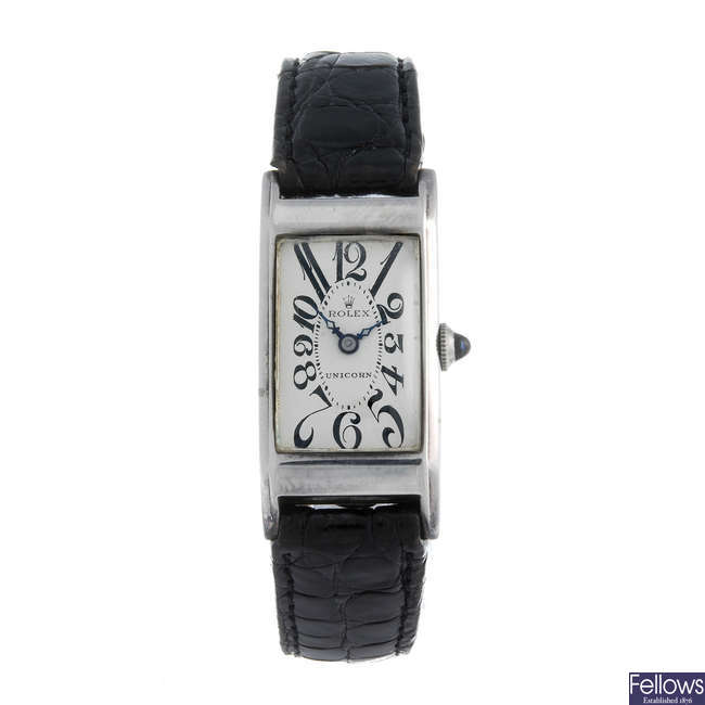 UNICORN - a gentleman's nickel plated wrist watch.
