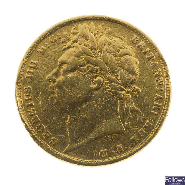 George IV, Sovereign 1821.