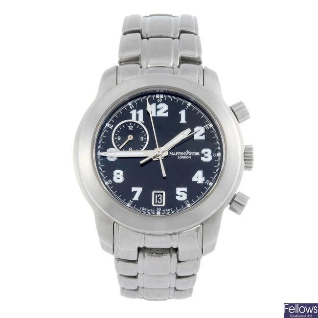 MAPPIN & WEBB - a gentleman's bracelet watch.
