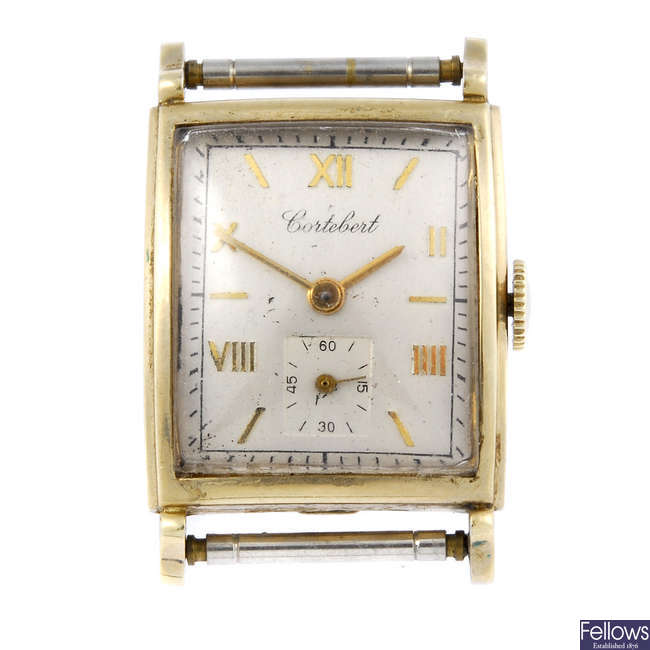 CONTEBENT - a gentleman's gold plated watch head.