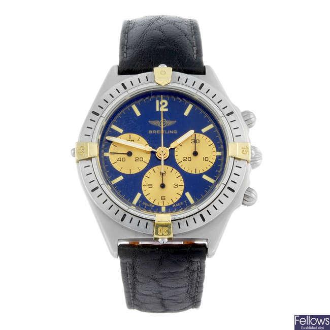 BREITLING - a gentleman's stainless steel Callisto chronograph wrist watch.