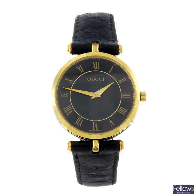 GUCCI - a gentleman's gold plated 2040M wrist watch.