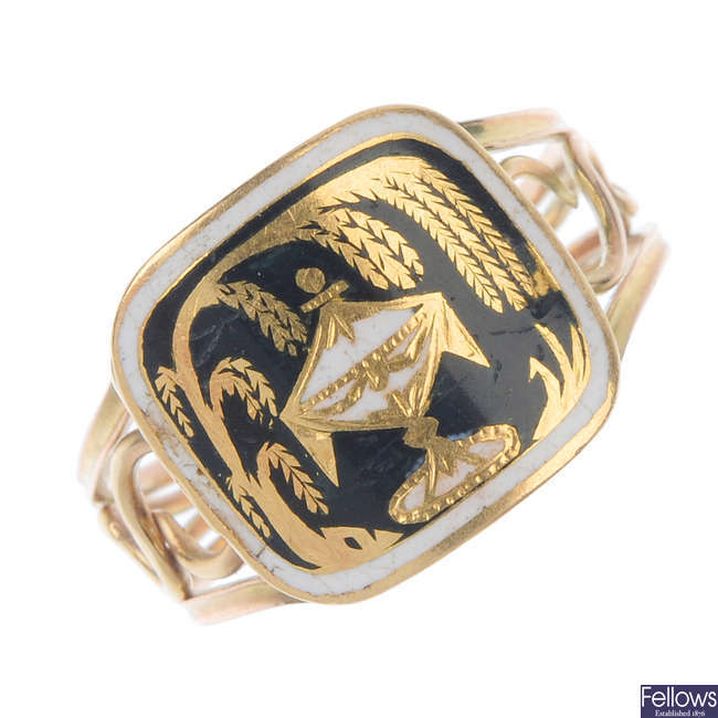 A George III mourning ring.