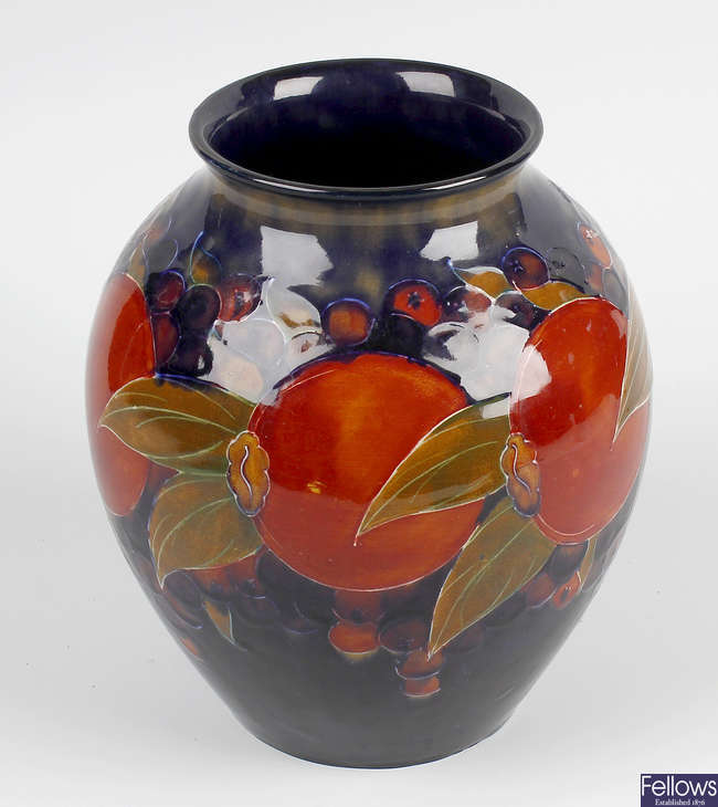 A Moorcroft 'pomegranate and berries' vase.