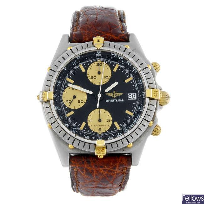 BREITLING - a gentleman's stainless steel Windrider Chronomat chronograph wrist watch.