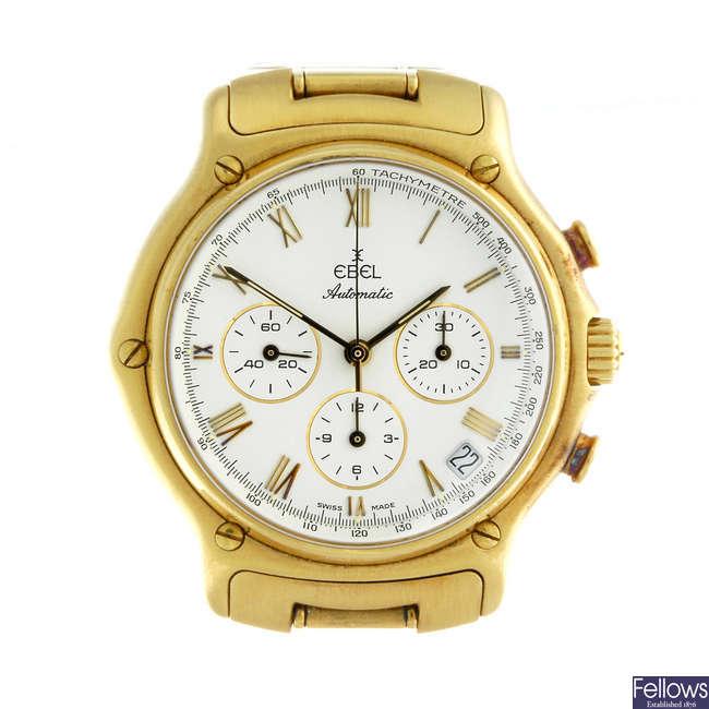 (126674-1-A) EBEL - a gentleman's yellow metal 1911 chronograph bracelet watch.