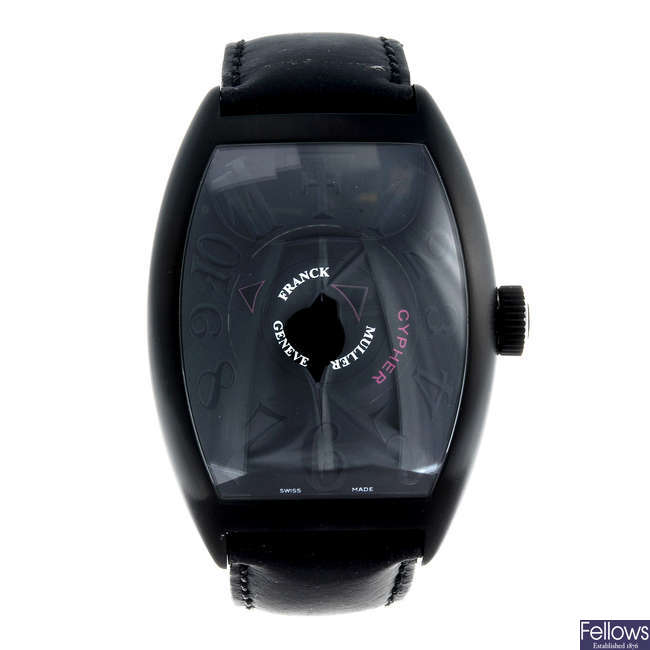 (126815-1-A) FRANCK MULLER - a limited edition gentleman's PVD-treated Cypher wrist watch.