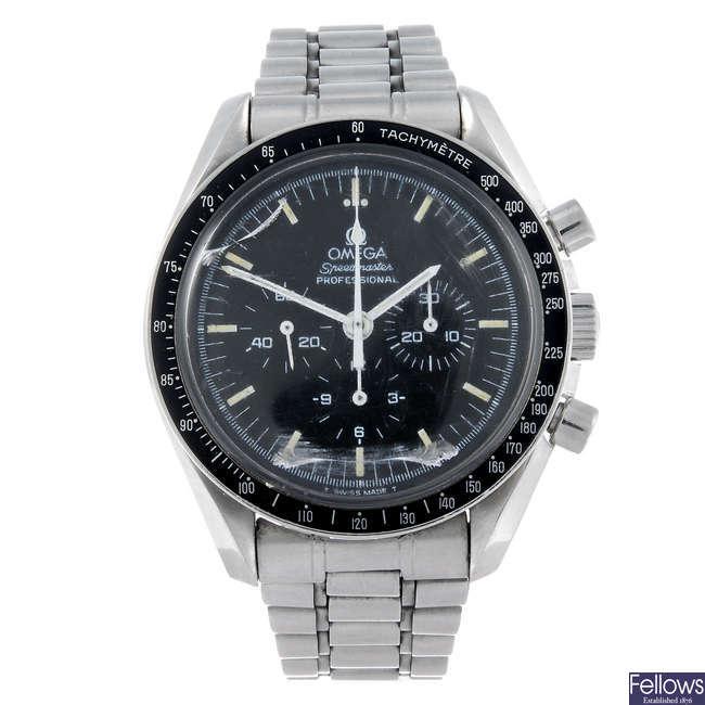 (125639-1-A) OMEGA - a gentleman's Speedmaster Professional Apollo XI chronograph bracelet watch.