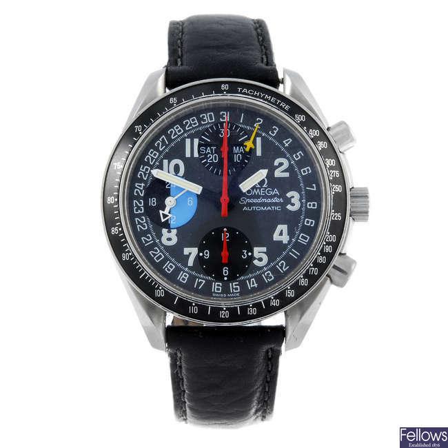(126885-1-A) OMEGA - a gentleman's stainless steel Speedmaster chronograph wrist watch.