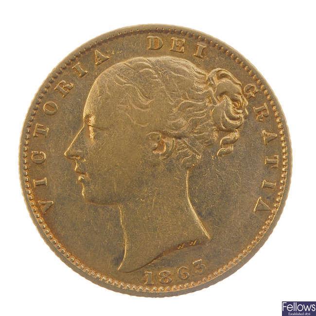 Victoria, Sovereign 1863.