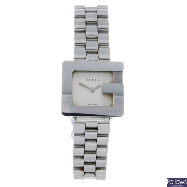 GUCCI - a lady's stainless steel 3600L bracelet watch.