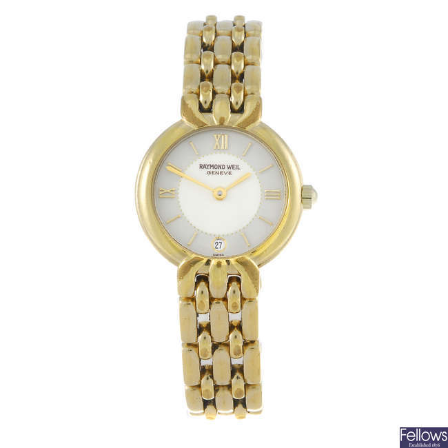 (27516) RAYMOND WEIL - a lady's gold plated bracelet watch.