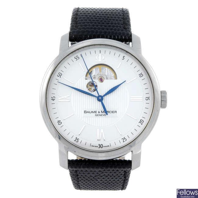 BAUME & MERCIER - a gentleman's stainless steel  Classima XL Executive wrist watch.
