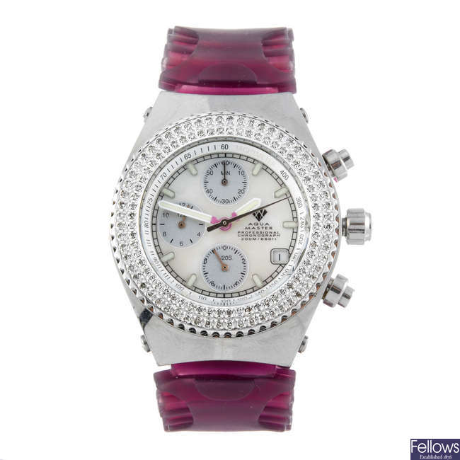 AQUA MASTER - a lady's stainless steel chronograph wrist watch.