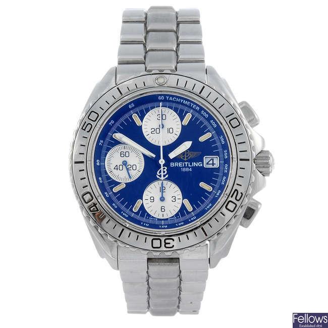 BREITLING - a gentleman's stainless steel Aeromarine Chrono Shark chronograph bracelet watch.