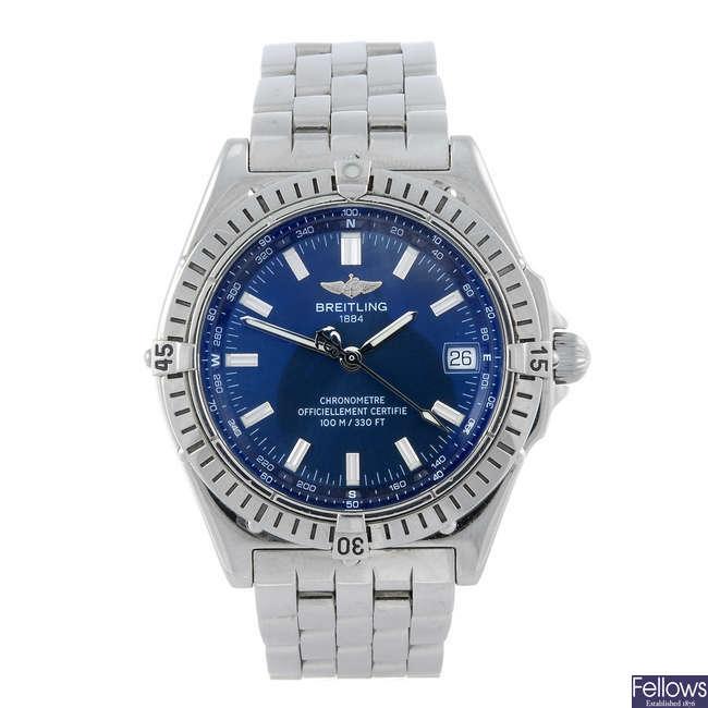 BREITLING - a gentleman's stainless steel Windrider bracelet watch.