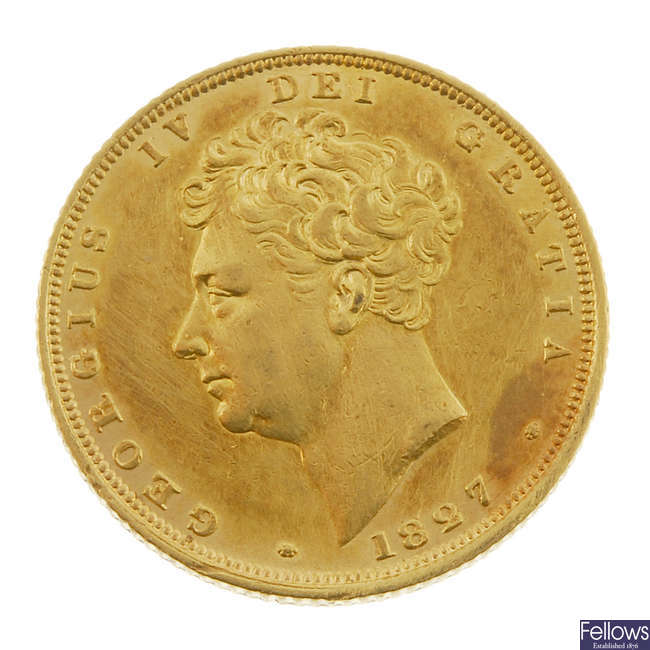 George IV, Sovereign 1827.