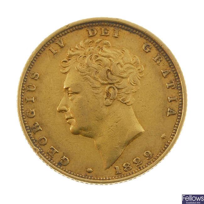 George IV, Sovereign 1829.