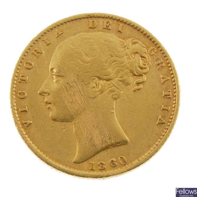 Victoria, Sovereign 1860.