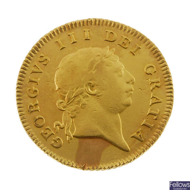 George III, Half-Guinea 1804.