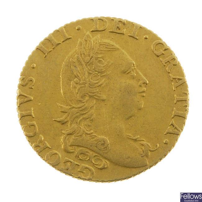George III, Half-Guinea 1781.