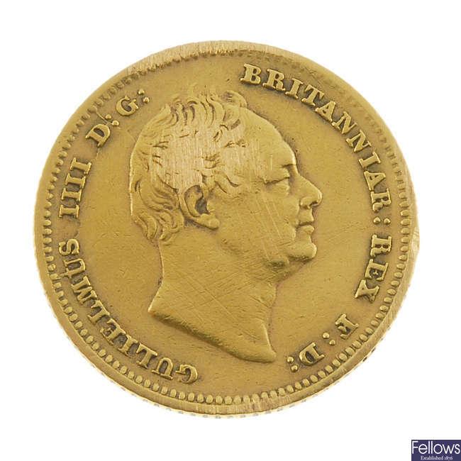 William IV, Half-Sovereign 1835.