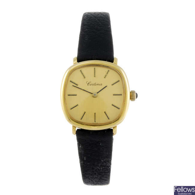 CERTINA - a lady's wrist watch together with a lady's gold plated Hermes wrist watch.