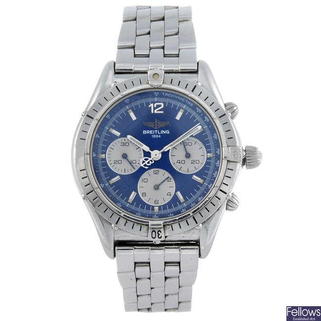 BREITLING - a gentleman's stainless steel Windrider Chrono Cockpit chronograph bracelet watch.