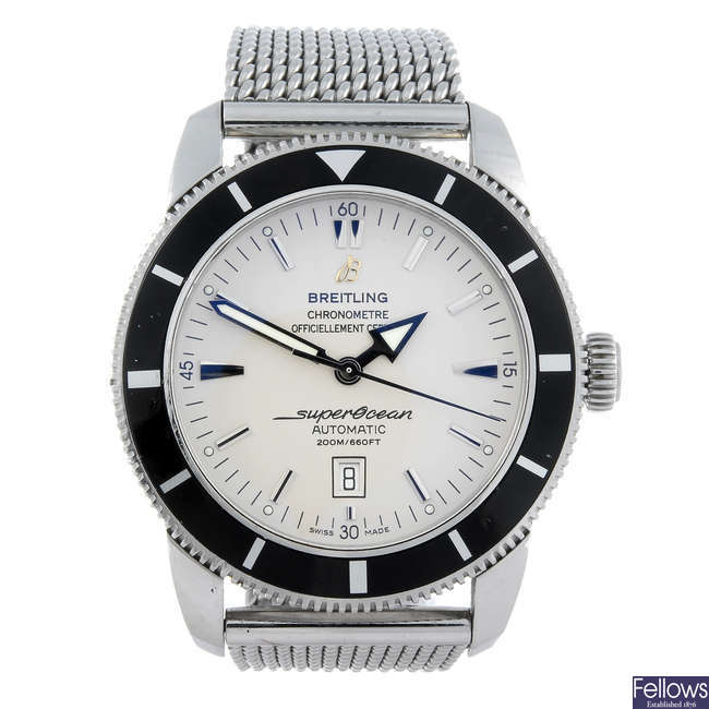 BREITLING - a gentleman's stainless steel Aeromarine Superocean Heritage 46 bracelet watch.