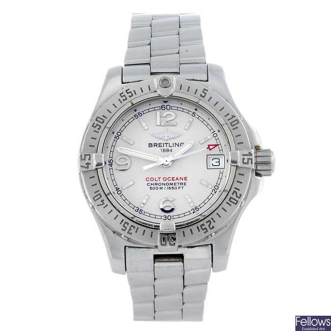 BREITLING - a lady's stainless steel Aeromarine Colt Oceane bracelet watch.