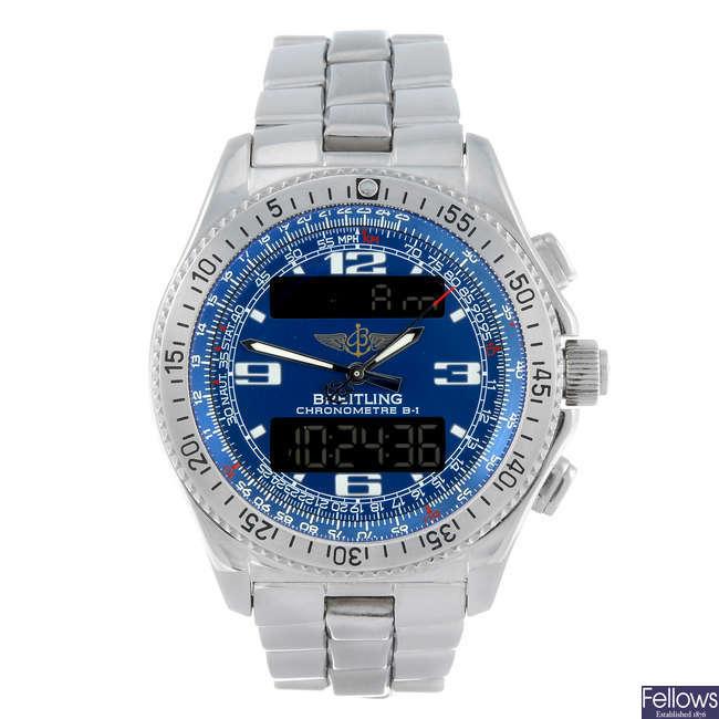BREITLING - a gentleman's stainless steel Professional Superquartz bracelet watch.