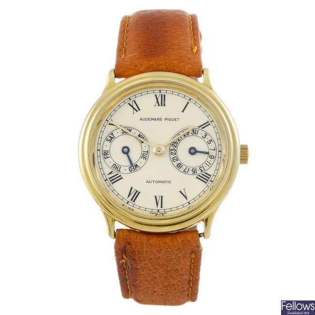 AUDEMARS PIGUET - a gentleman's 18ct gold wrist watch.