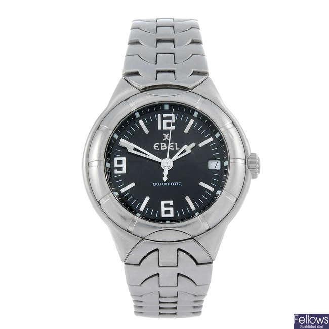 EBEL - a gentleman's stainless steel Type E bracelet watch.