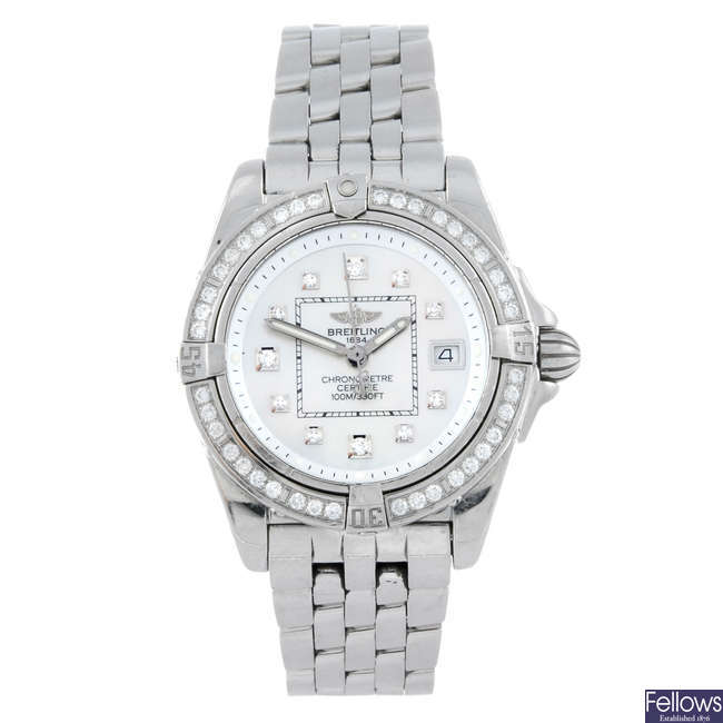 BREITLING - a lady's stainless steel Windrider Cockpit Lady bracelet watch.