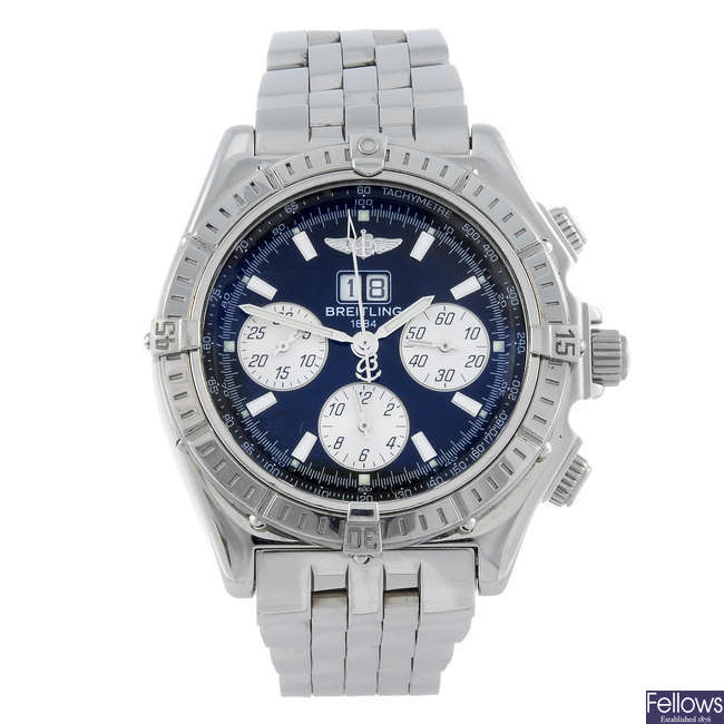 BREITLING - a gentleman's stainless steel Windrider Crosswind chronograph bracelet watch.