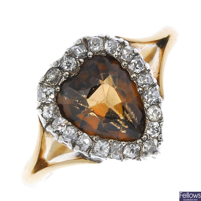 A zircon and diamond cluster ring.