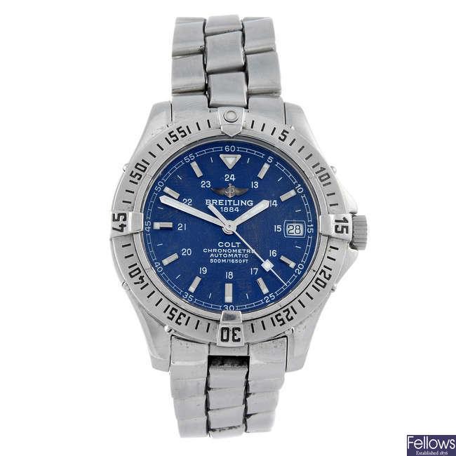 BREITLING - a gentleman's stainless steel Aeromarine Colt bracelet watch.