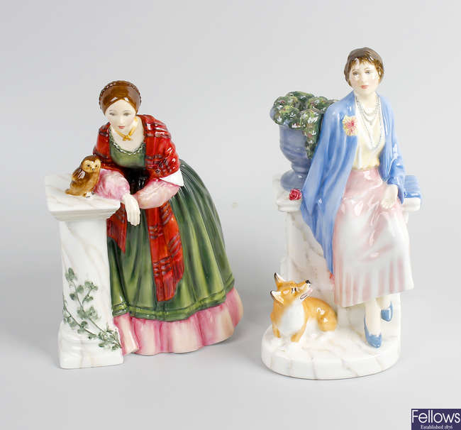 Two Royal Doulton figures.