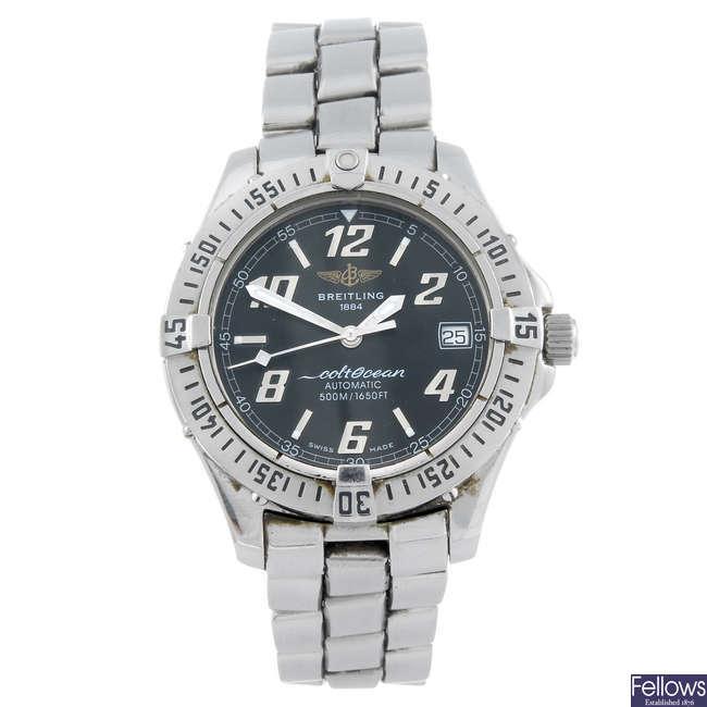 BREITLING - a gentleman's stainless steel Aeromarine Colt Ocean bracelet watch.