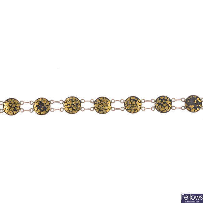 An early 20th century 14ct gold Japanese bracelet.