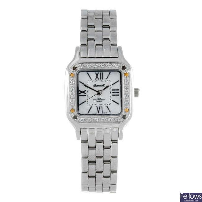 INGERSOLL - a lady's stainless steel Gems bracelet watch.