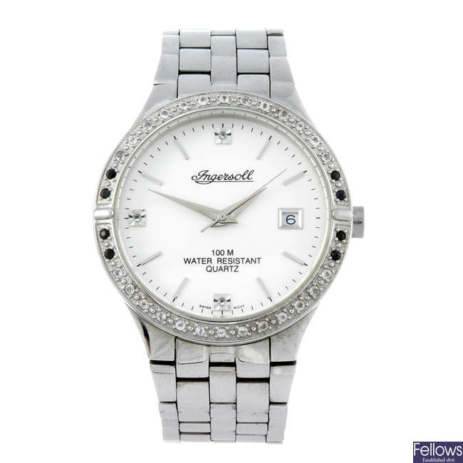 INGERSOLL - a gentleman's stainless steel Gems bracelet watch.