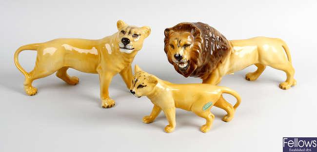 Four Beswick animals
