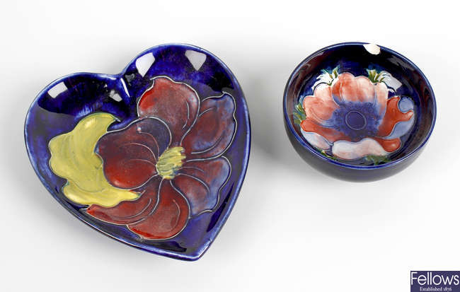 Two items of Moorcroft pottery