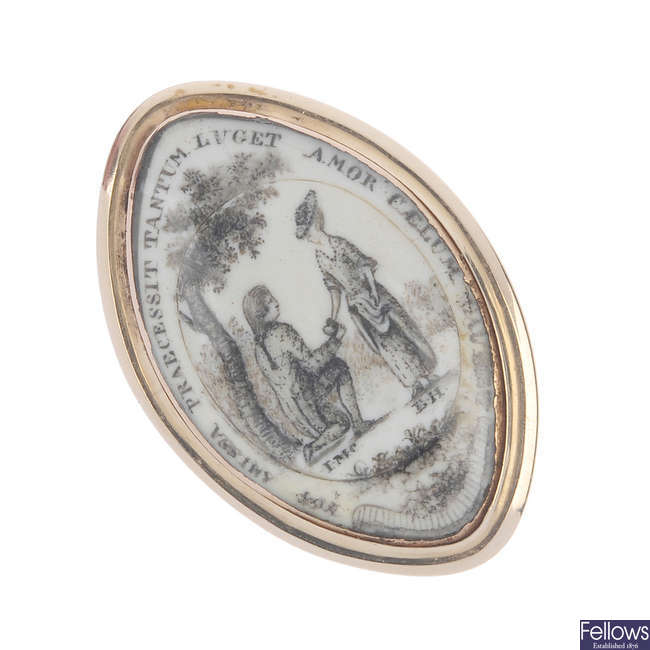 A mid 19th century memorial ring.