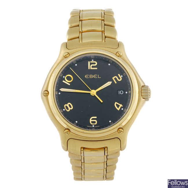 EBEL - a gentleman's 18ct yellow gold 1911 bracelet watch.