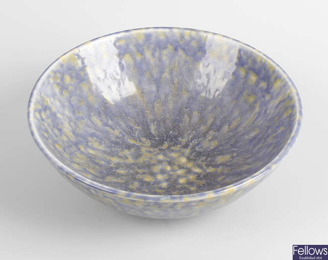 A Ruskin pottery bowl.
