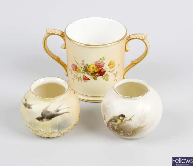 A Royal Worcester vase, etc.
